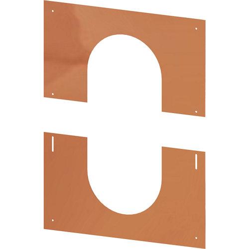 Placa remate 0º/30º dn130 cobre dw