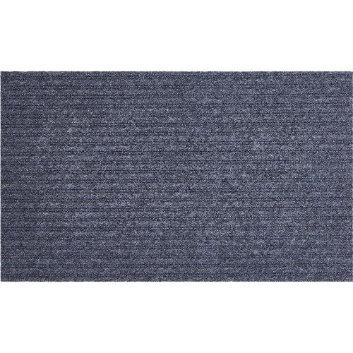 Felpudo gris de poliéster 33 x55 cm