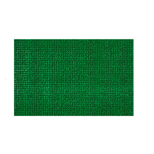 Felpudo verde de 100 % polietileno 40 x70 cm