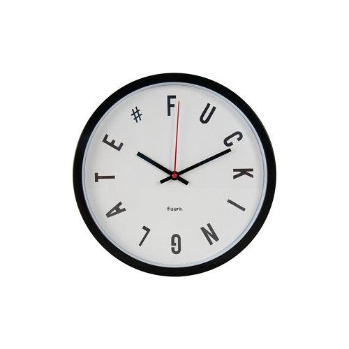 Reloj de pared fisura fuckin late circular blanco 30cm