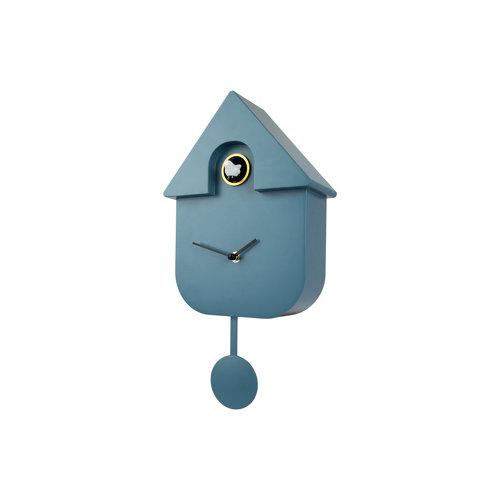Reloj de pared cuccko fisura con forma de casa azul