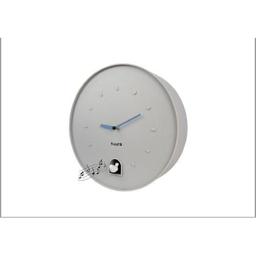 Reloj de pared cuccko fisura circular gris 30cm