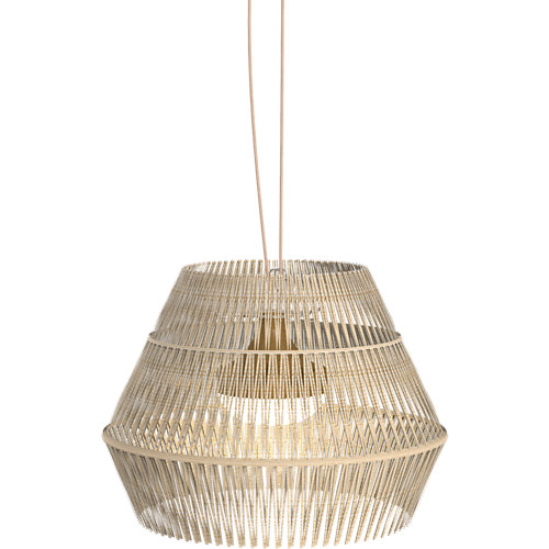 Lámpara de techo exterior sisine hang de fibra natural recargable