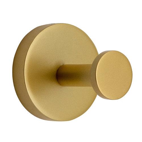 Percha de baño eco amarillo / dorado mate