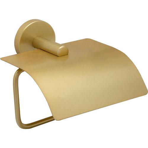 Portarollo wc eco amarillo / dorado mate 13x11x13 cm