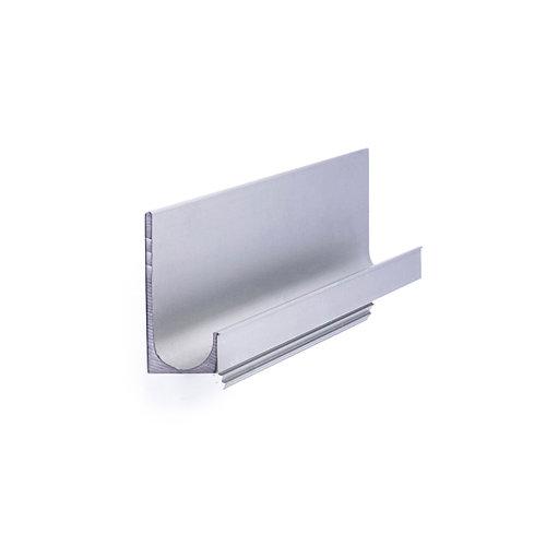 Tirador embutido de aluminio anod. mate, medidas: 897x42mm