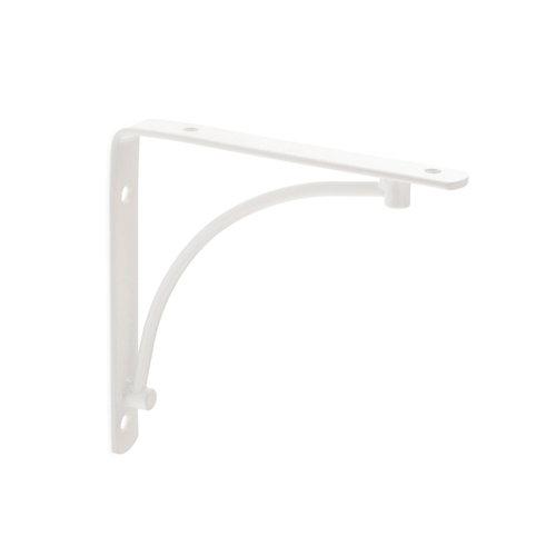 1 escuadra arch de acero blanco para baldas de 150 mm
