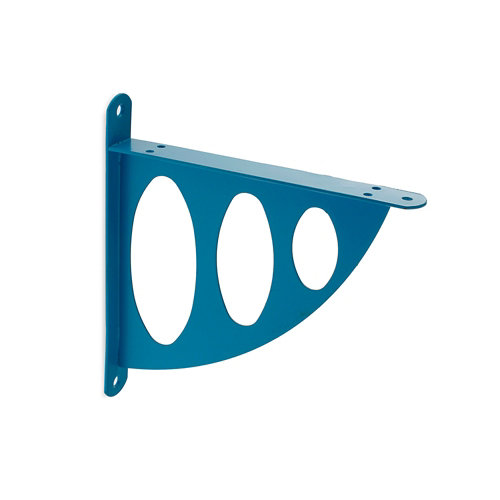 1 escuadra de acero azul celeste para baldas de 200 mm