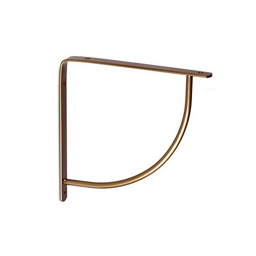 1 escuadra belly de acero bronce para baldas de 200 mm