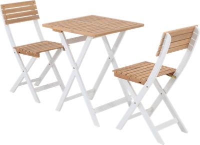 Set de balcón de madera de acacia Balanca para 2 personas