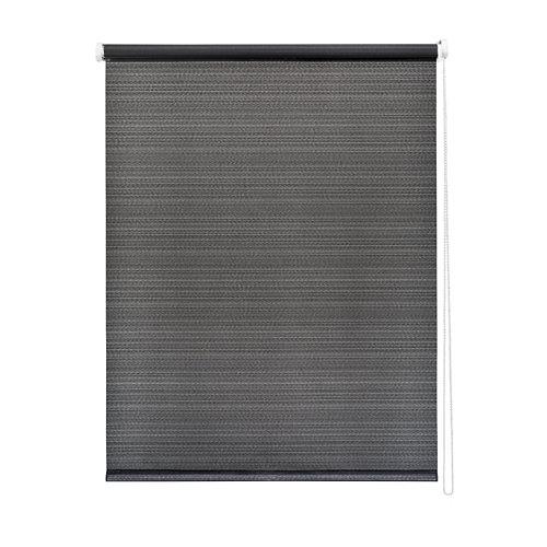Estor enrollable stricia negro 150x250 cm