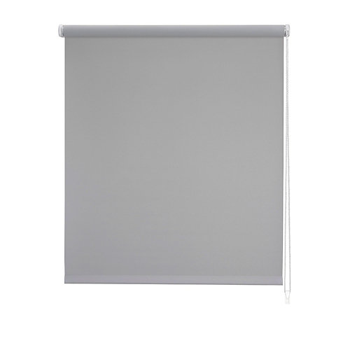 Estor enrollable loneta plane gris 105x250 cm