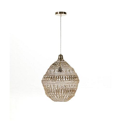Lámpara de techo modelo bali acabado oro