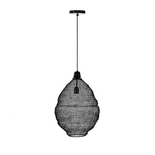 Lámpara de techo modelo tibet acabado negro