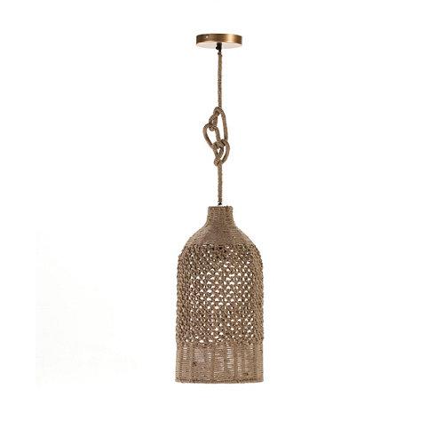 Lámpara de techo baltra acabado marrón cuerda