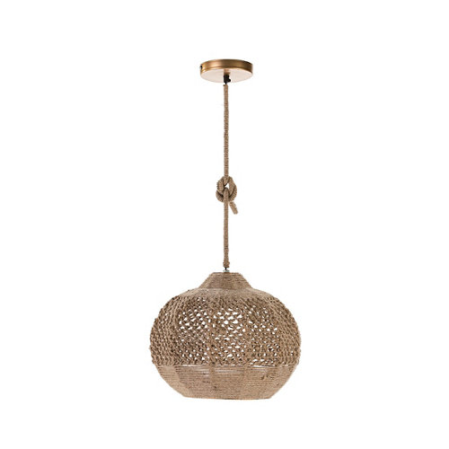 Lámpara de techo modelo edén acabado marrón
