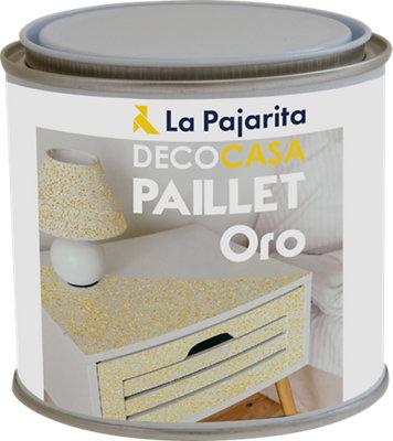 Pintura Paillet Glitter La Pajarita 500ML Oro