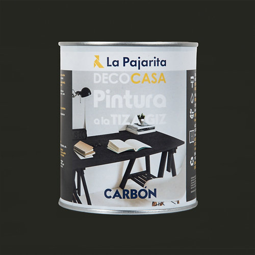 Pintura tiza la pajarita 750ml carbón