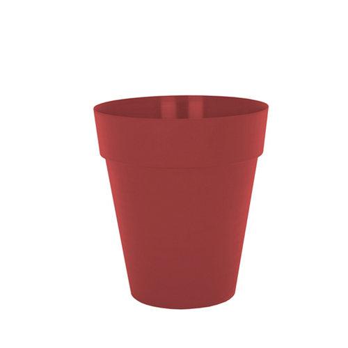 Maceta alta capri rojo 50x50x56cm