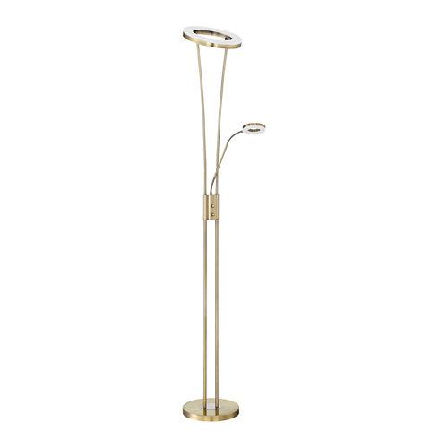 Lámpara de pie led lumiplus anello 30w+5w medalla dimable