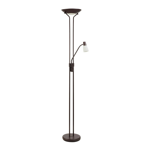 Lámpara de pie lumiplus doris cromo marrón óxido