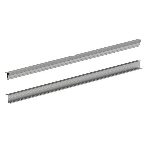 Kit guía para 2 puertas correderas spaceo 4,2x116,6x0,15 cm