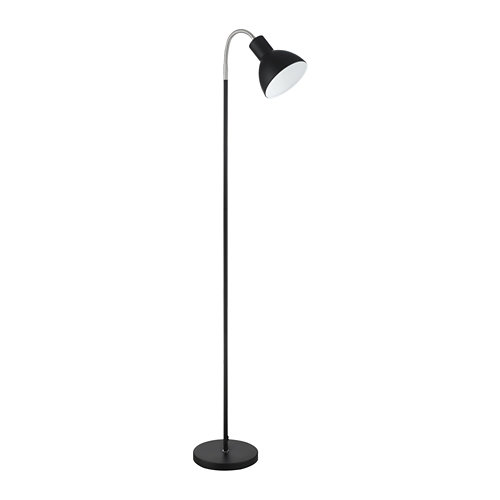 Lámpara de pie lumiplus cigno negro mate
