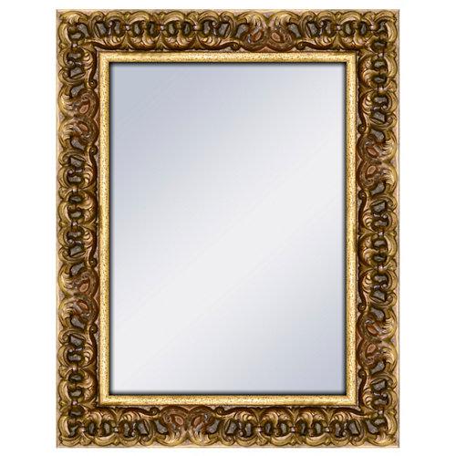 Espejo rectangular queen viejo oro 72 x 92 cm