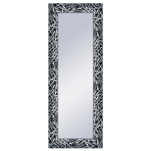 Espejo rectangular ringo negro 160 x 60 cm