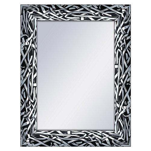 Espejo rectangular ringo negro 70 x 90 cm
