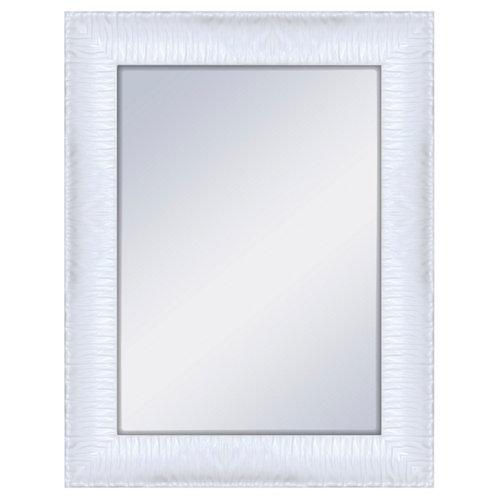 Espejo rectangular gaga blanco blanco 70 x 90 cm