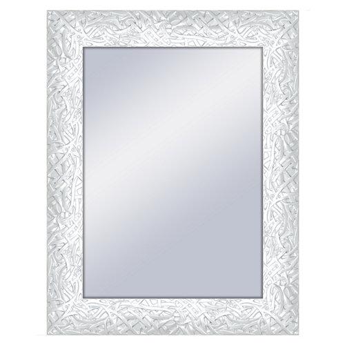 Espejo rectangular bob blanco 70 x 90 cm