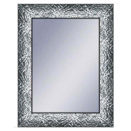 Espejo rectangular dylan plomo acero 70 x 90 cm