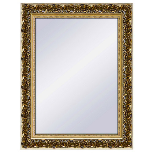 Espejo rectangular ayo viejo dorado 68 x 88 cm