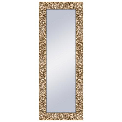 Espejo rectangular bruno oro dorado 159 x 59 cm