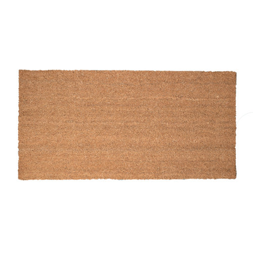 Felpudo beige de coco y pvc 50 x100 cm