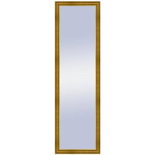 Espejo rectangular lisa oro dorado 128 x 38 cm