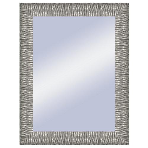 Espejo rectangular melanie plata plata 66.4 x 86.4 cm