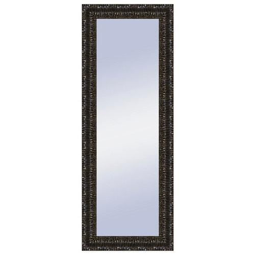 Espejo rectangular nicole lacado negro 158 x 58 cm