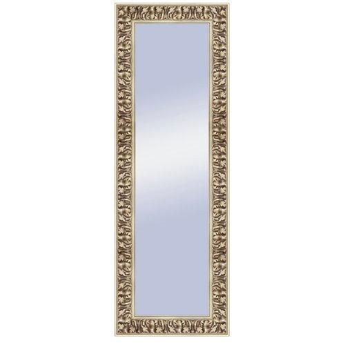 Espejo rectangular gisele barroco plata 137 x 47 cm