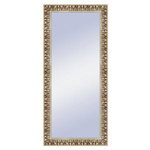 Espejo rectangular gisele barroco plata 147 x 67 cm