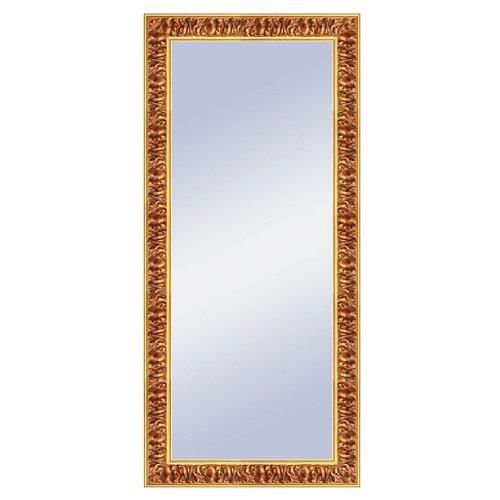 Espejo rectangular liliane barroco dorado 147 x 67 cm