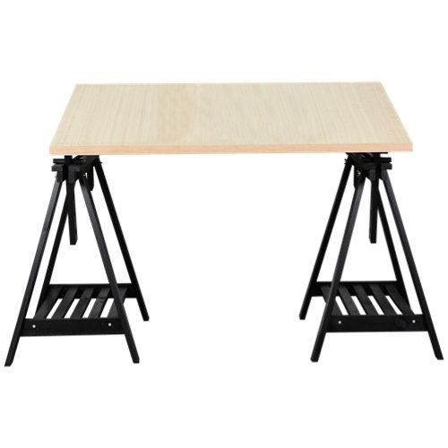 Mesa de escritorio roble/eucalipto 80x120x2,5 cm