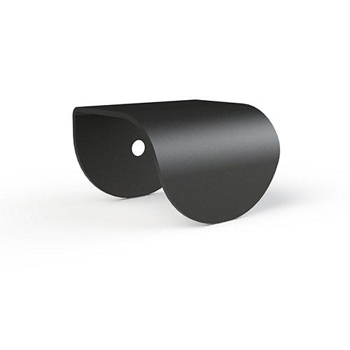 Tirador de metal negro kub de 3.5x mm