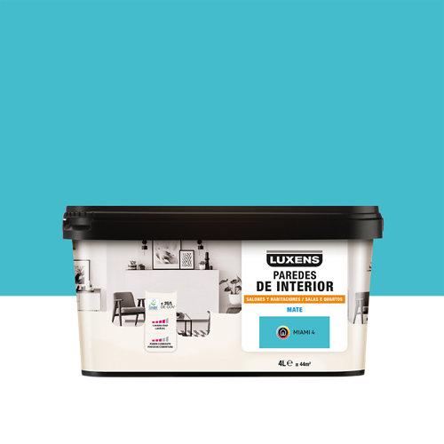 Pintura salones y habitaciones luxens 4l miami 4