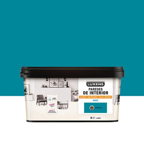 Pintura salones y habitaciones luxens 4l miami 2