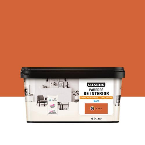 Pintura salones y habitaciones luxens 4l soda 2