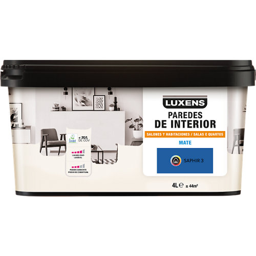 Pintura salones y habitaciones luxens 4l saphir 3