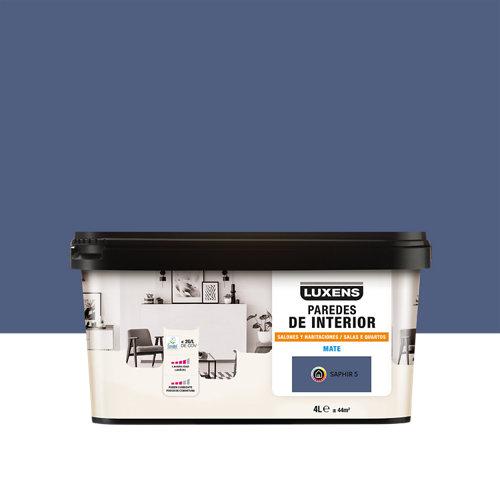 Pintura salones y habitaciones luxens 4l saphir 5