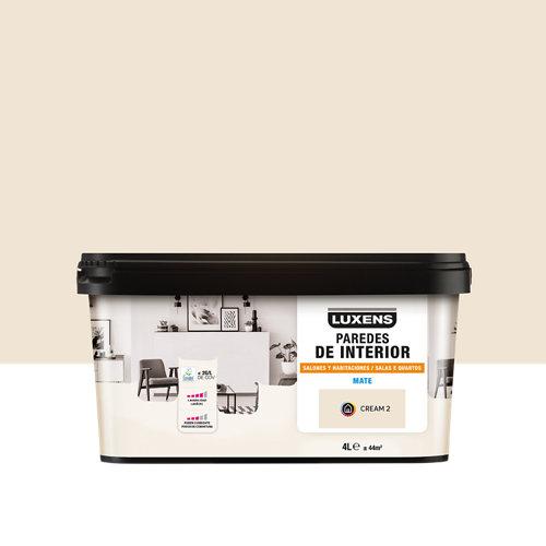 Pintura salones y habitaciones luxens 4l cream 2